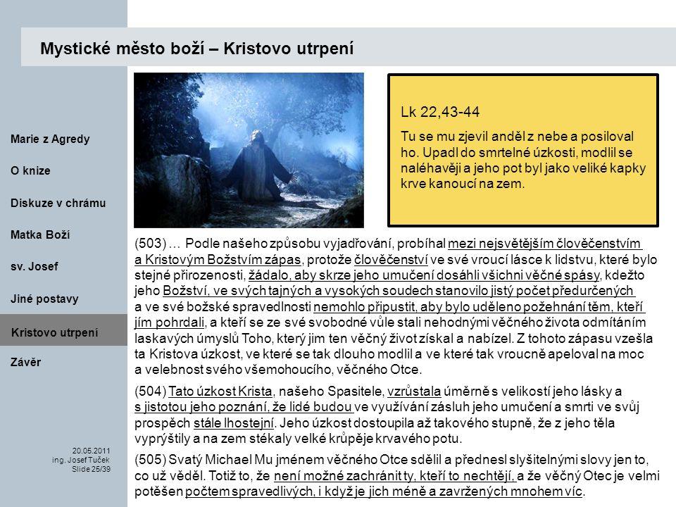 Matka Boží O knize 20.05.2011 ing.Josef Tuček Slide 25/39 Marie z Agredy sv.