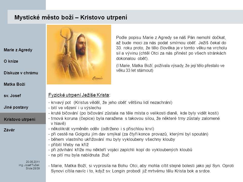 Matka Boží O knize 20.05.2011 ing.Josef Tuček Slide 28/39 Marie z Agredy sv.