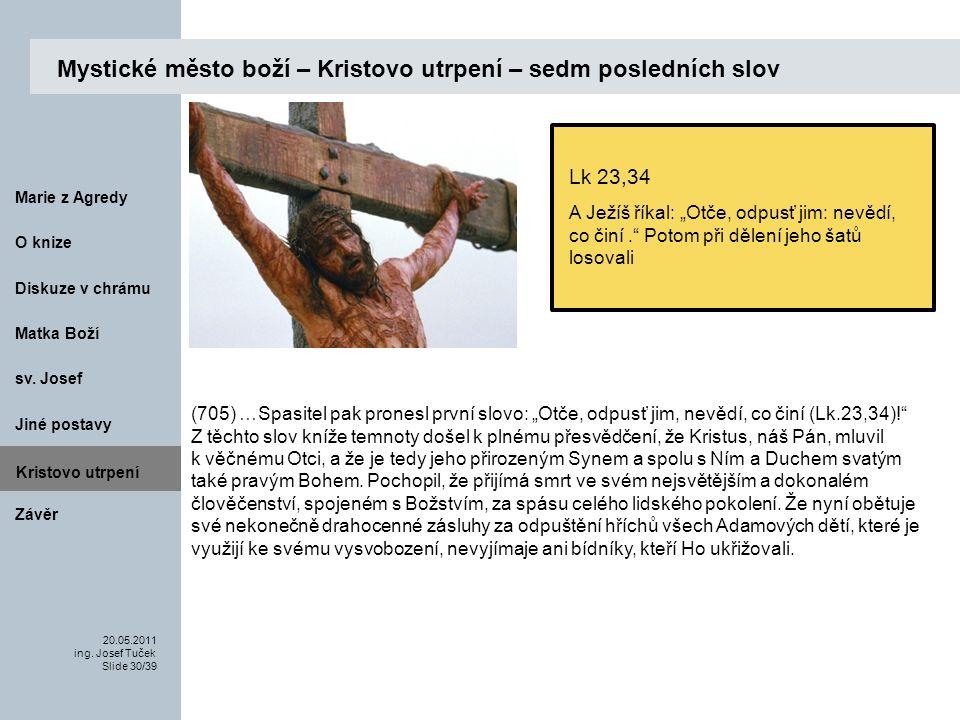 Matka Boží O knize 20.05.2011 ing.Josef Tuček Slide 30/39 Marie z Agredy sv.