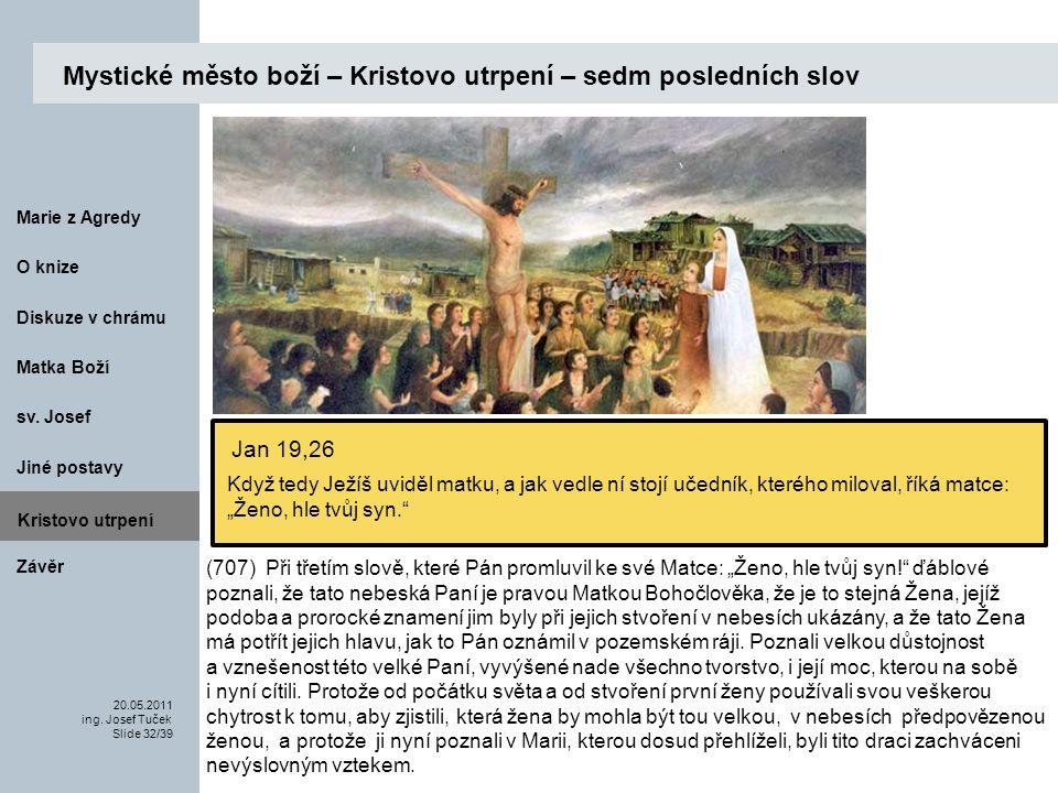 Matka Boží O knize 20.05.2011 ing.Josef Tuček Slide 32/39 Marie z Agredy sv.