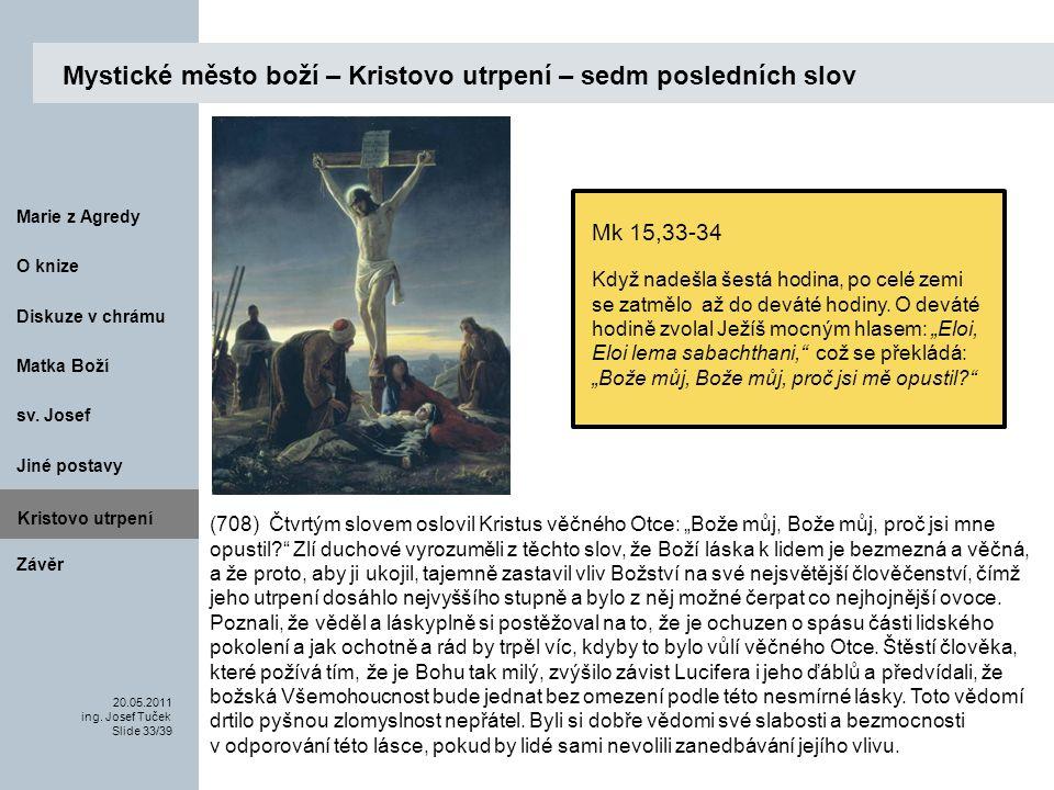 Matka Boží O knize 20.05.2011 ing.Josef Tuček Slide 33/39 Marie z Agredy sv.