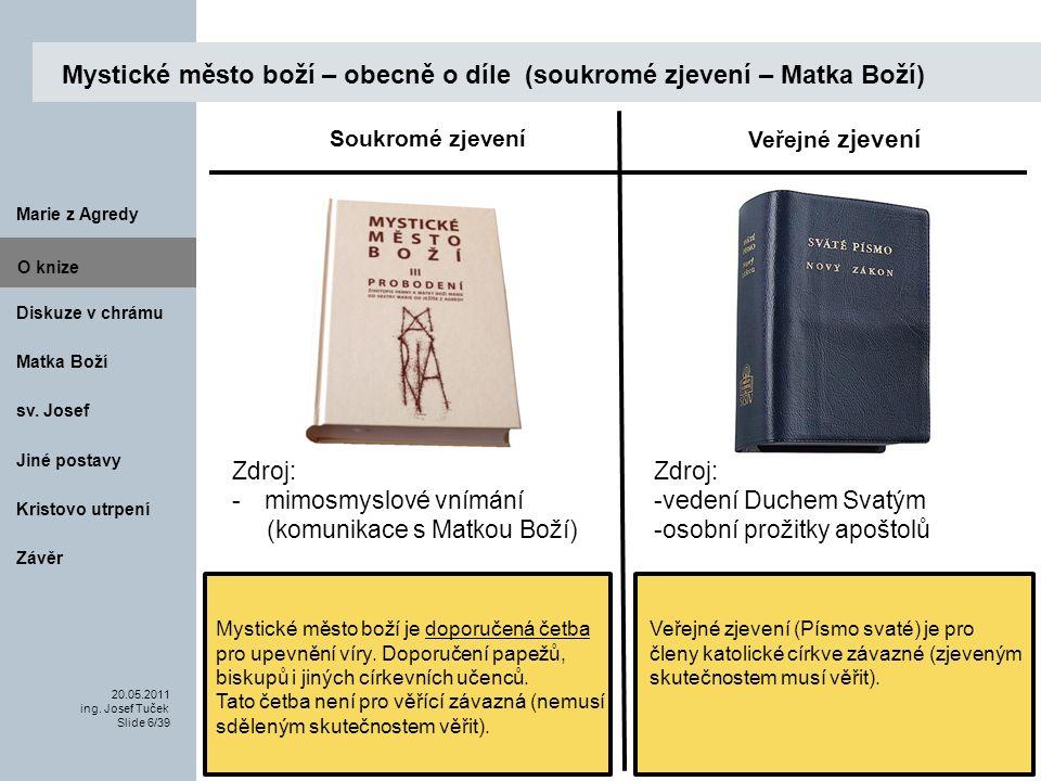 Matka Boží O knize 20.05.2011 ing.Josef Tuček Slide 17/39 Marie z Agredy sv.