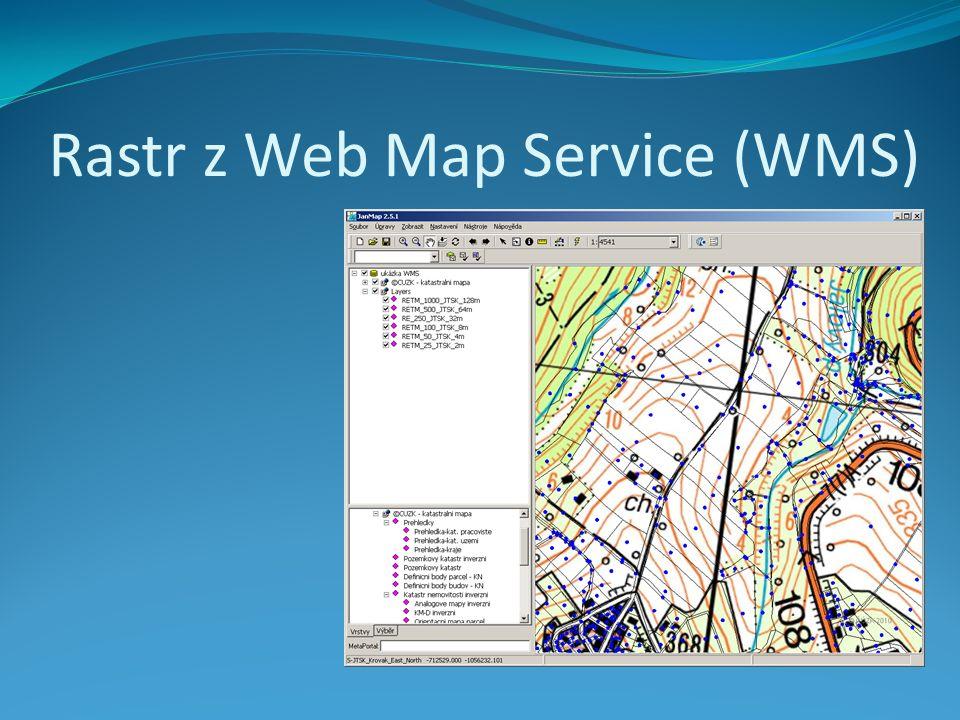 Rastr z Web Map Service (WMS)