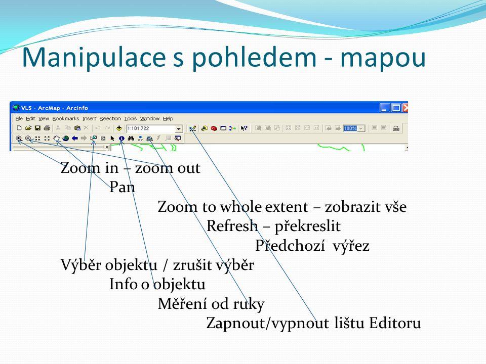 Odkud jdou data Vlastní disk C:, D:, flash disk, sd karta: když není v nabídce -> PŘIPOJTE WORKSPACE Vzdálený servr WMS služby – jen zobrazuje Připojení přes html adresu Katastrálky na geoportálu ČUZK http://geoportal.cuzk.cz/