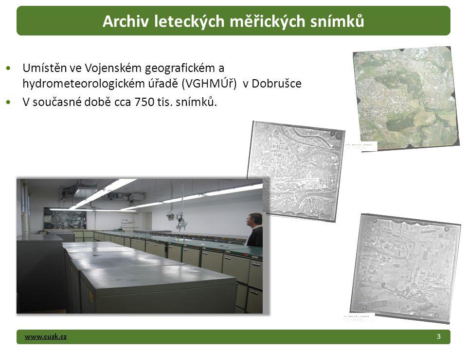 www.cuzk.cz Umístěn ve Vojenském geografickém a hydrometeorologickém úřadě (VGHMÚř) v Dobrušce V současné době cca 750 tis.
