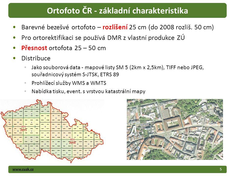 www.cuzk.cz Barevné bezešvé ortofoto – rozlišení 25 cm (do 2008 rozliš.