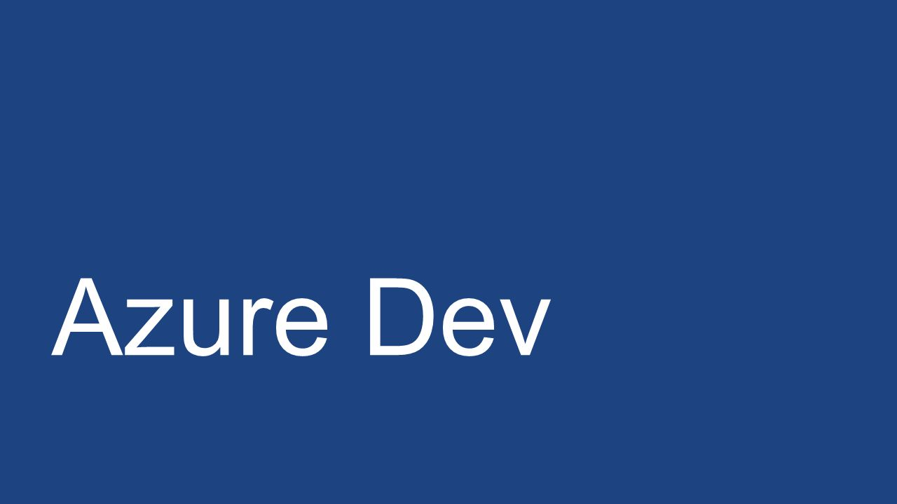Azure Dev