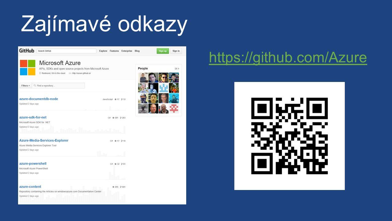Zajímavé odkazy https://github.com/Azure