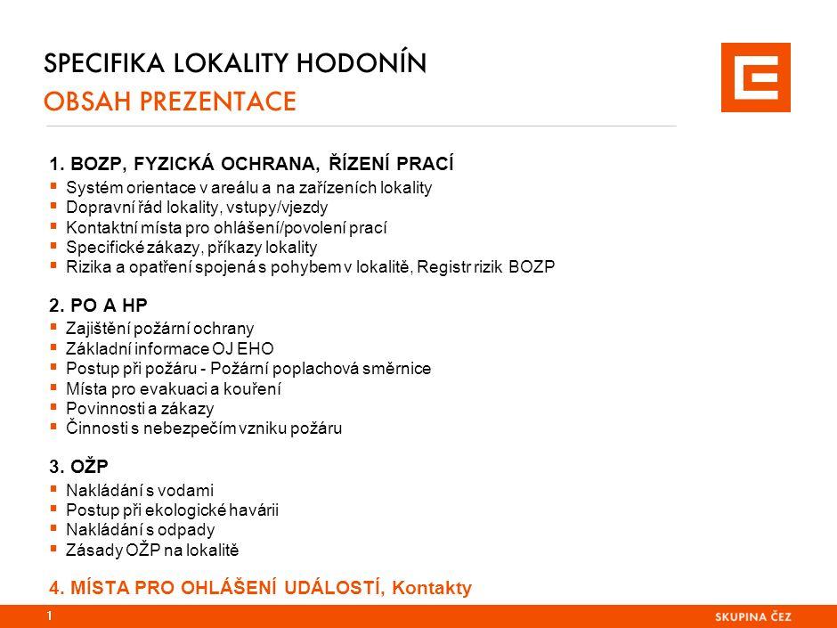 SPECIFIKA LOKALITY HODONÍN OBSAH PREZENTACE 1.