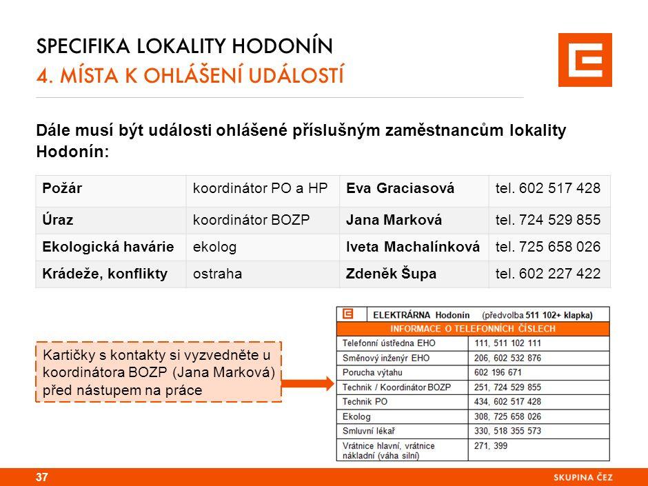 SPECIFIKA LOKALITY HODONÍN 4.