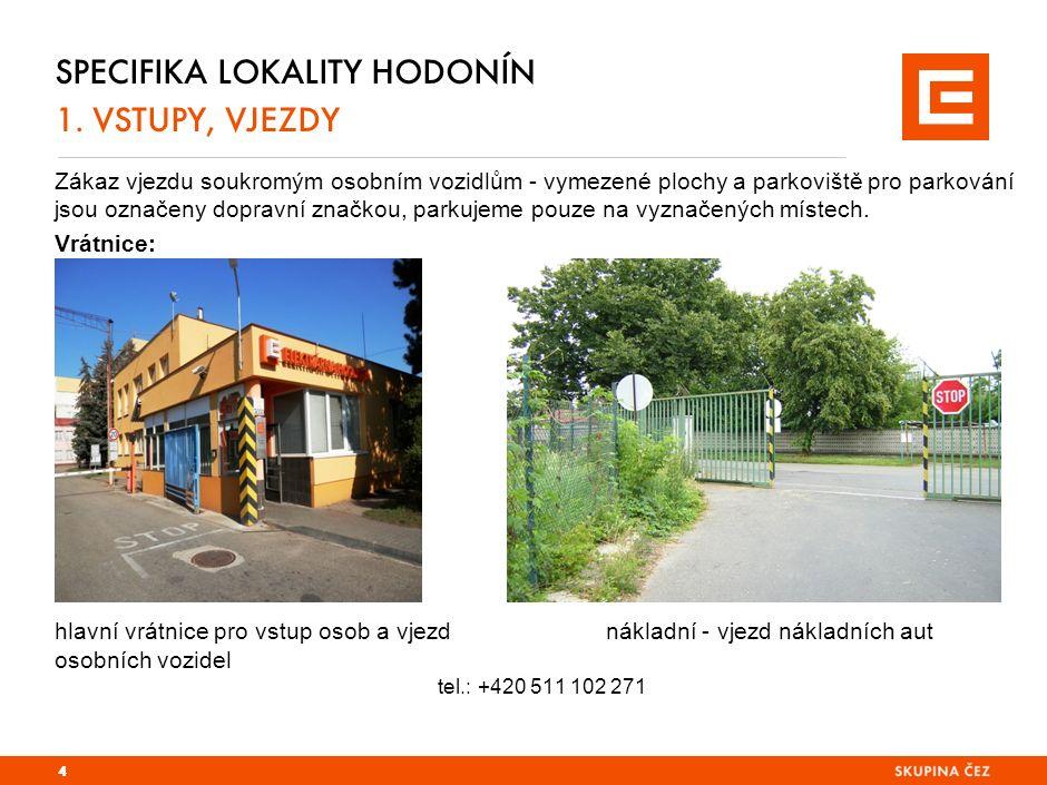 SPECIFIKA LOKALITY HODONÍN 1. VSTUPY, VJEZDY Zákaz vjezdu soukromým osobním vozidlům - vymezené plochy a parkoviště pro parkování jsou označeny doprav