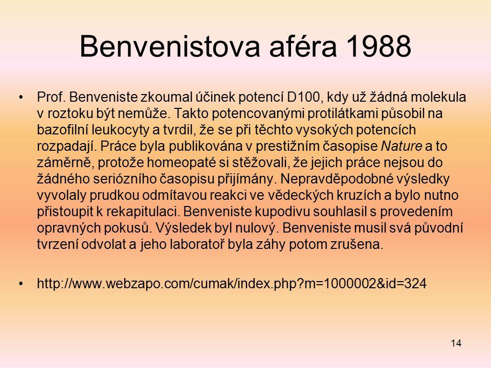 Benvenistova aféra 1988 Prof.