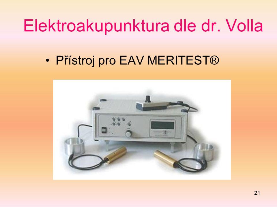21 Elektroakupunktura dle dr. Volla Přístroj pro EAV MERITEST®
