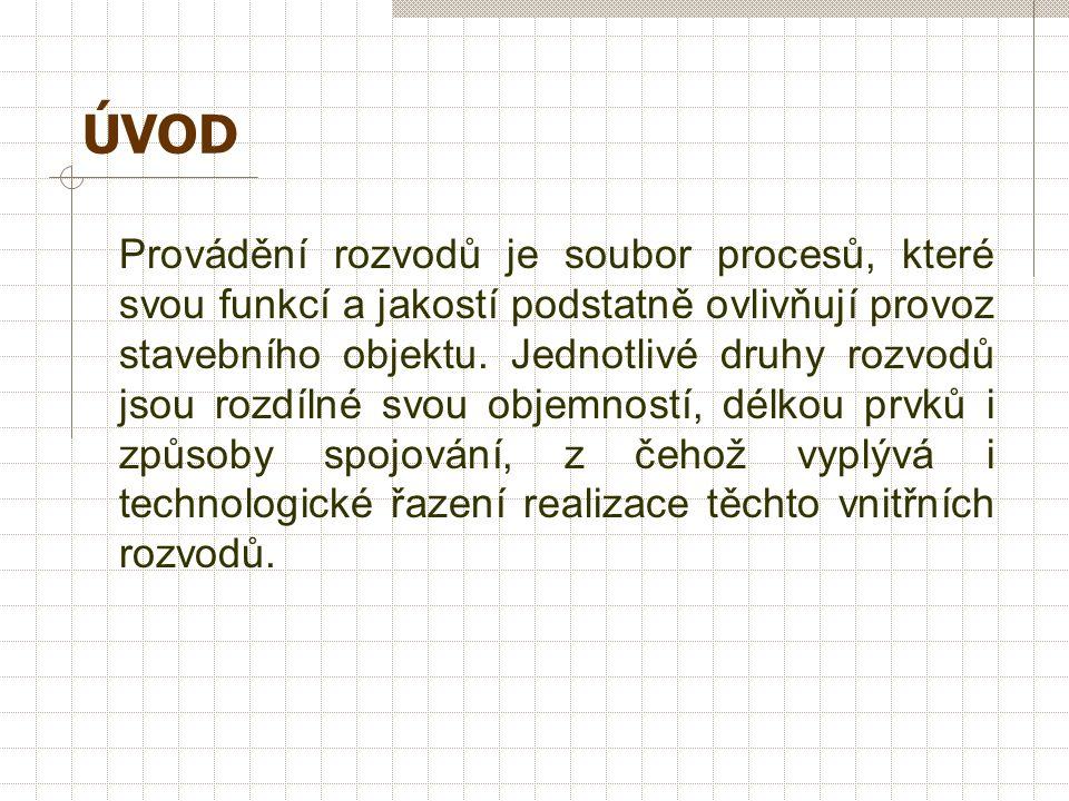REALIZACE ROZVODŮ ZDRAVOTNĚ TECHNICKÝCH ZAŘÍZENÍ vč. JEJICH KOMPLETACE Ing. Miloslava POPENKOVÁ, CSc.