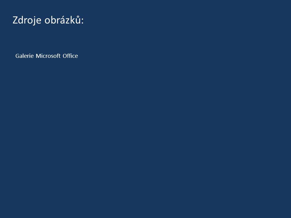 Galerie Microsoft Office Zdroje obrázků: