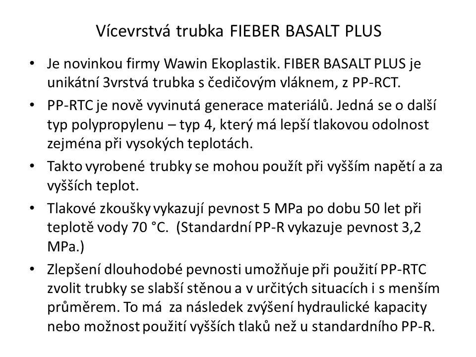 Vícevrstvá trubka FIEBER BASALT PLUS Je novinkou firmy Wawin Ekoplastik.