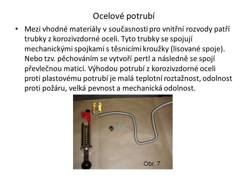 Potrubí z mědi Pro vnitřní vodovody je vhodné měděné potrubí.