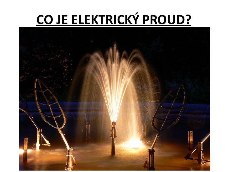 Závěr: elektrický proud je tvořen usměrněným pohybem částic s nábojem (elektronů, iontů) směr proudu je stanoven dohodou, od kladného pólu k zápornému pólu zdroje napětí