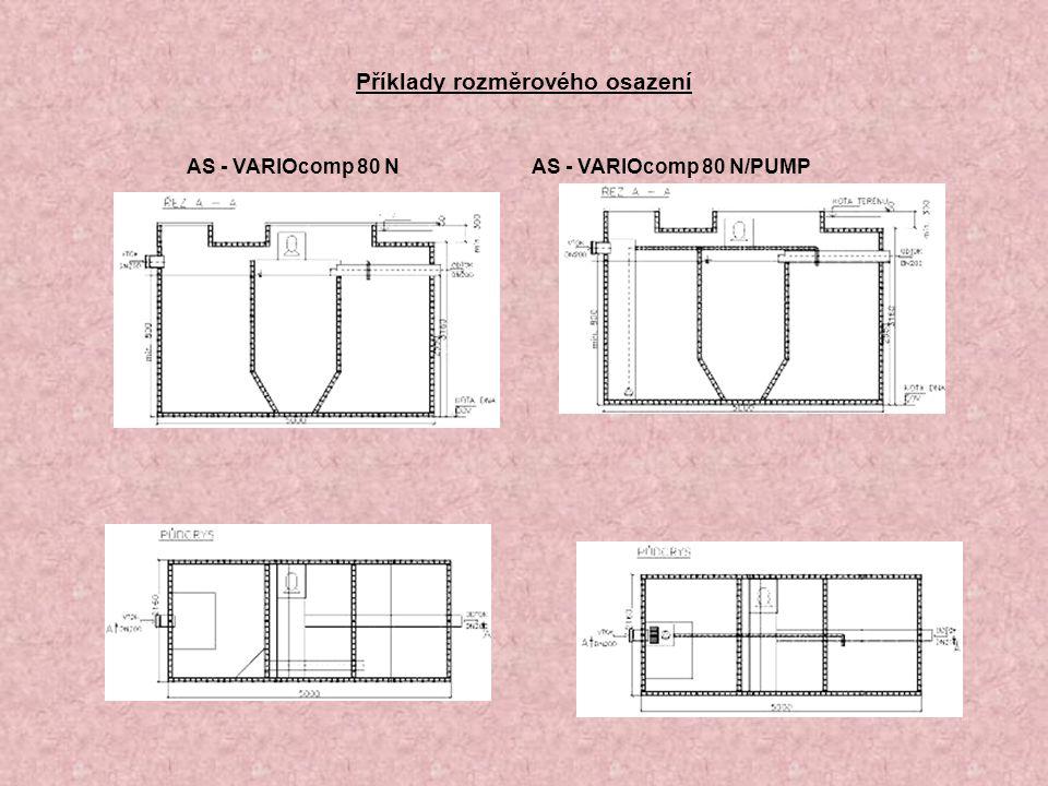 Příklady rozměrového osazení AS - VARIOcomp 80 N AS - VARIOcomp 80 N/PUMP