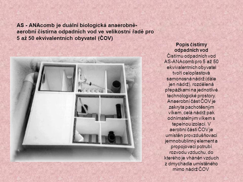 Použití ČOV ČOV byla vyvinuta pro čištění splaškových odpadních vod z rodinných domů, chat, chalup, malých provozoven apod.