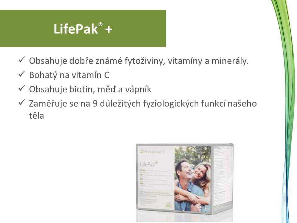 LifePak ® + Obsahuje dobře známé fytoživiny, vitamíny a minerály.