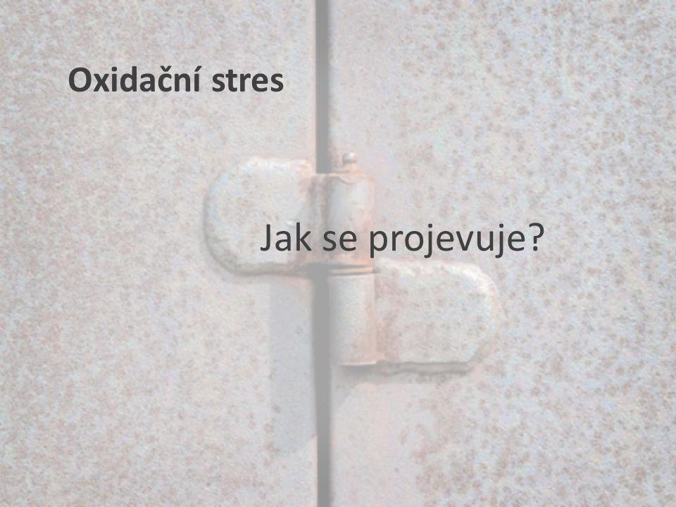 Jak se projevuje? Oxidační stres