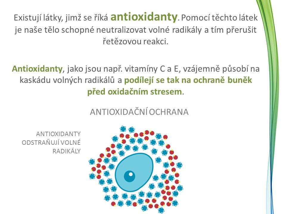 Existují látky, jimž se říká antioxidanty. Pomocí těchto látek je naše tělo schopné neutralizovat volné radikály a tím přerušit řetězovou reakci. Anti