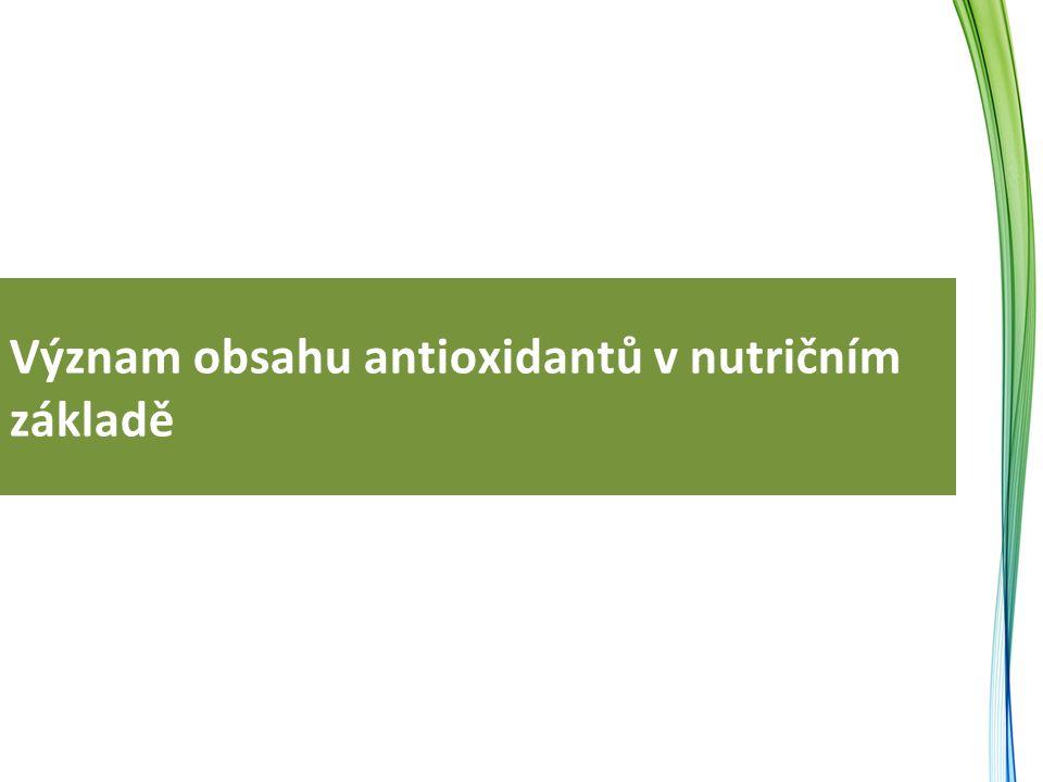 Význam obsahu antioxidantů v nutričním základě