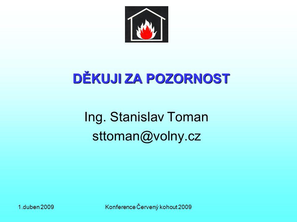 1.duben 2009Konference Červený kohout 2009 DĚKUJI ZA POZORNOST Ing.