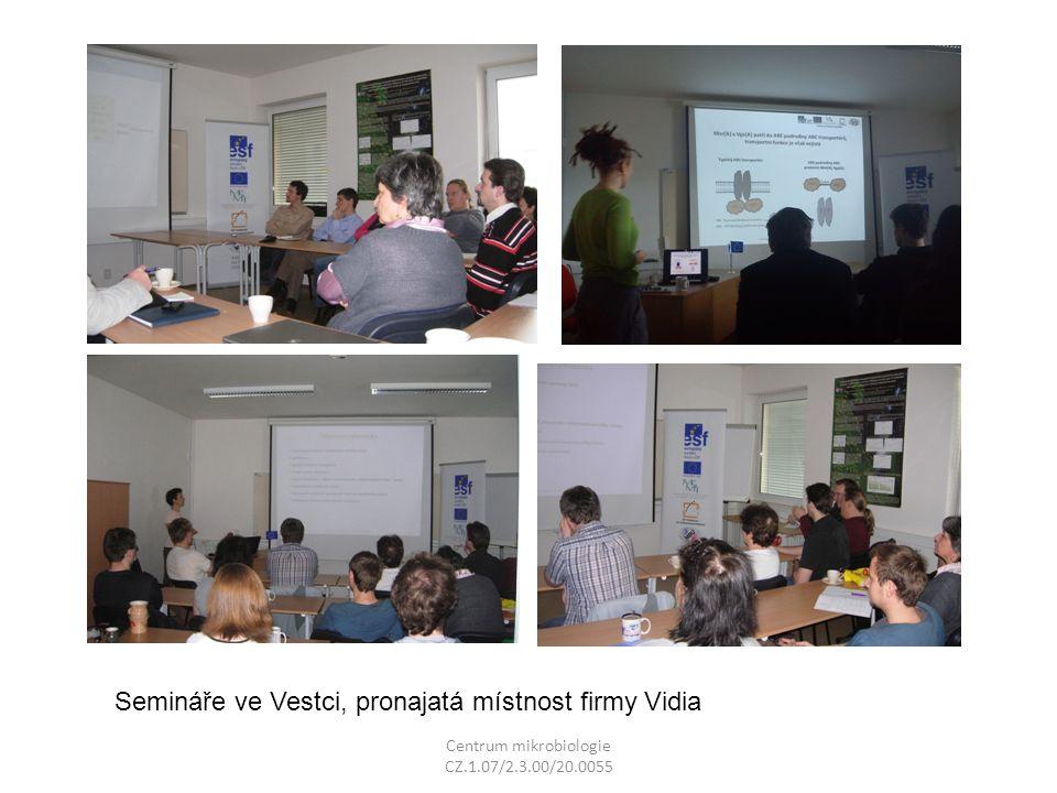 Semináře ve Vestci, pronajatá místnost firmy Vidia