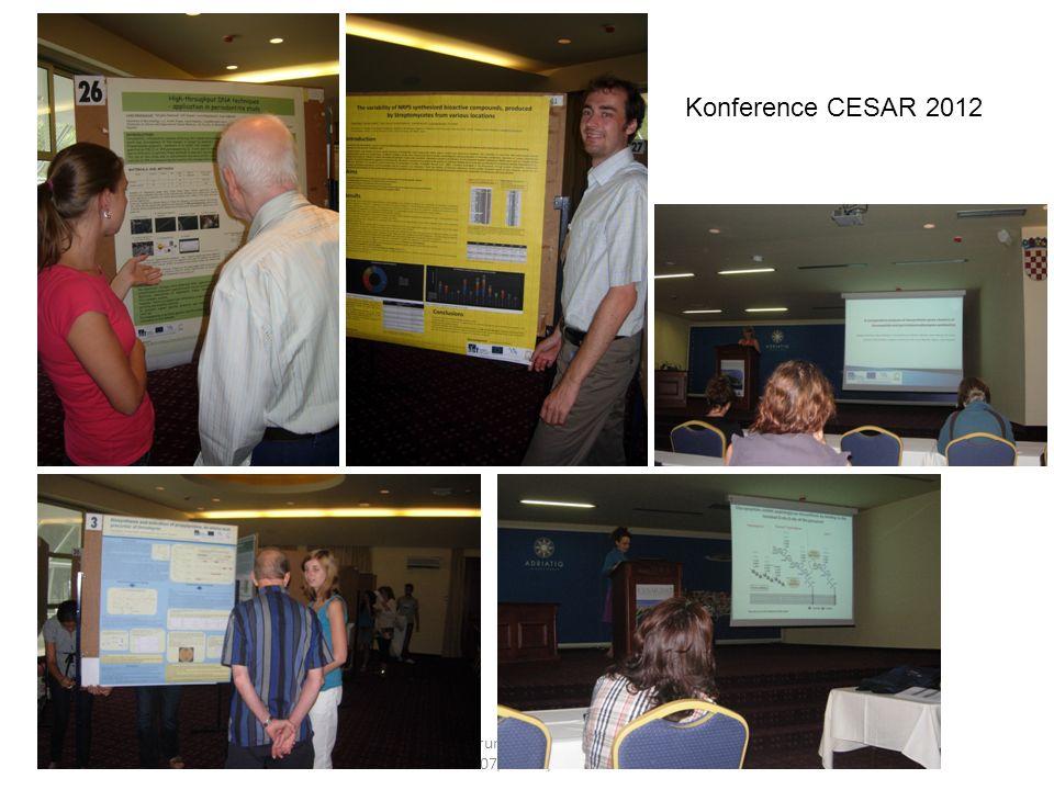 Centrum mikrobiologie CZ.1.07/2.3.00/20.0055 Konference CESAR 2012
