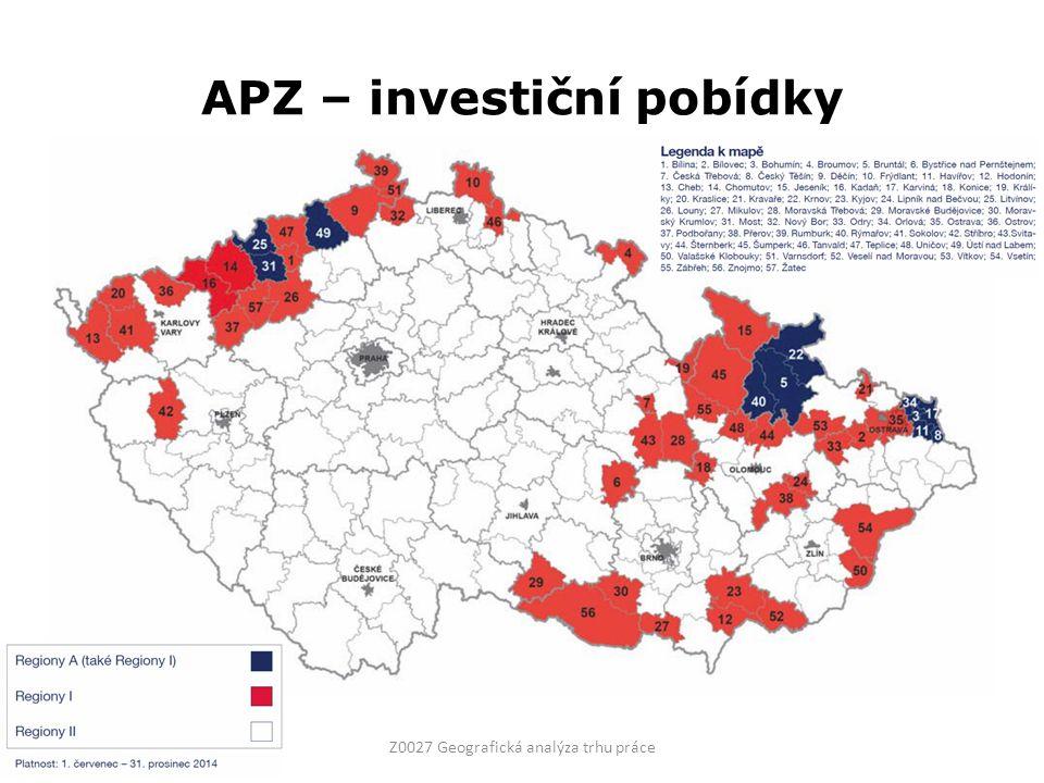 APZ – investiční pobídky Z0027 Geografická analýza trhu práce