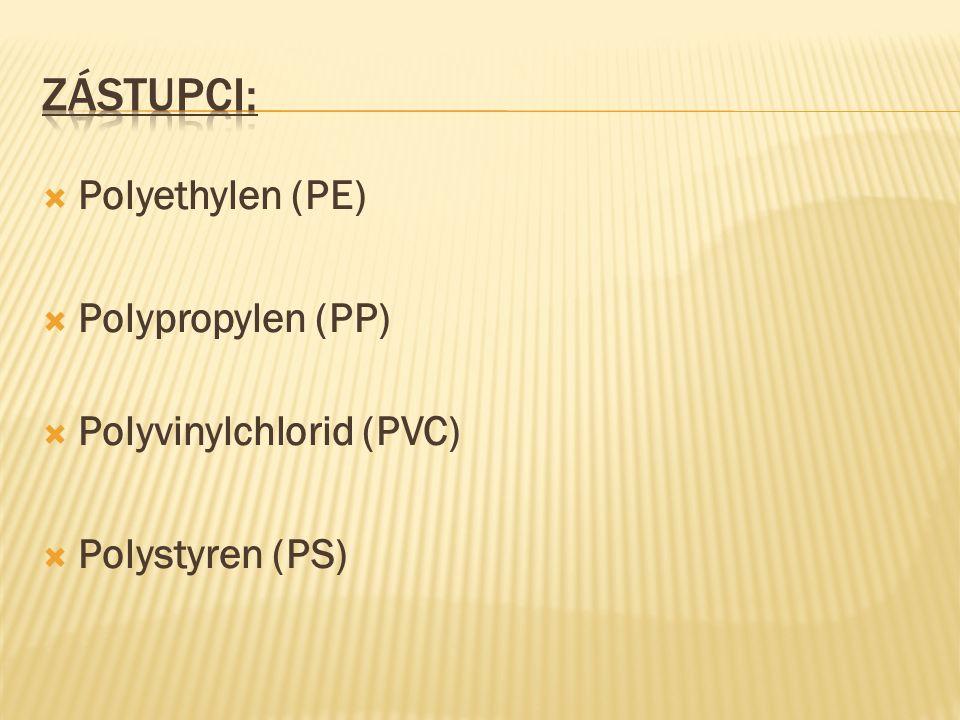  Polyethylen (PE)  Polypropylen (PP)  Polyvinylchlorid (PVC)  Polystyren (PS)