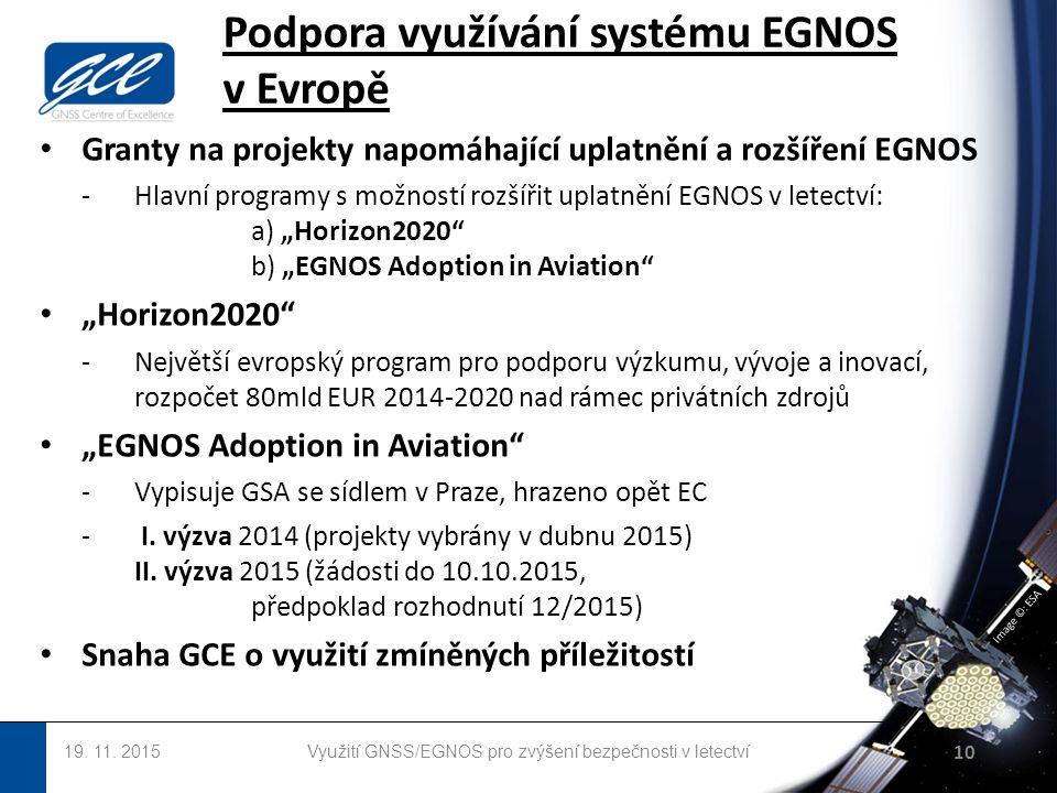 image ©: ESA Podpora využívání systému EGNOS v Evropě 19.