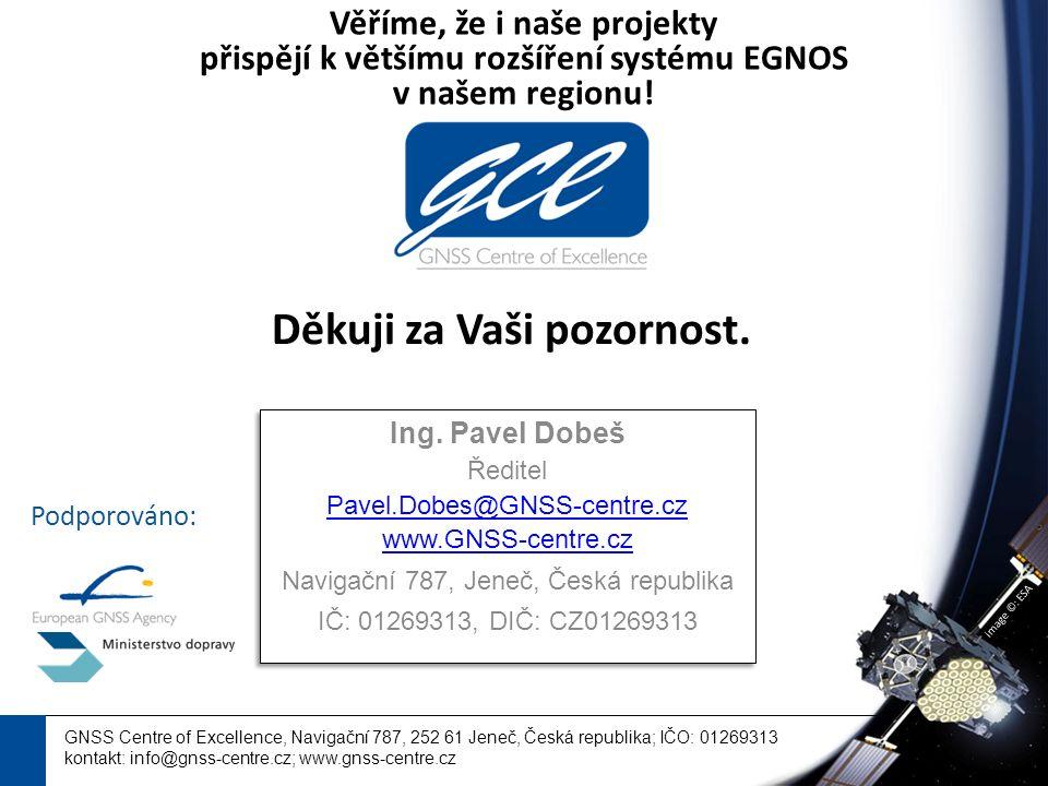 image ©: ESA GNSS Centre of Excellence, Navigační 787, 252 61 Jeneč, Česká republika; IČO: 01269313 kontakt: info@gnss-centre.cz; www.gnss-centre.cz Děkuji za Vaši pozornost.