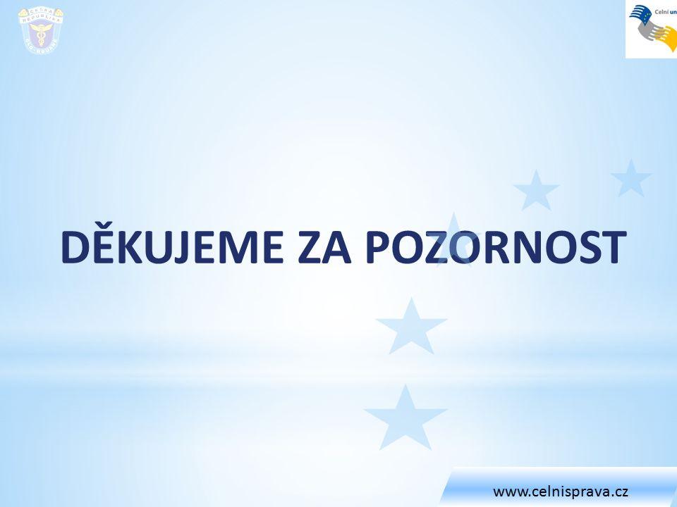 DĚKUJEME ZA POZORNOST www.celnisprava.cz