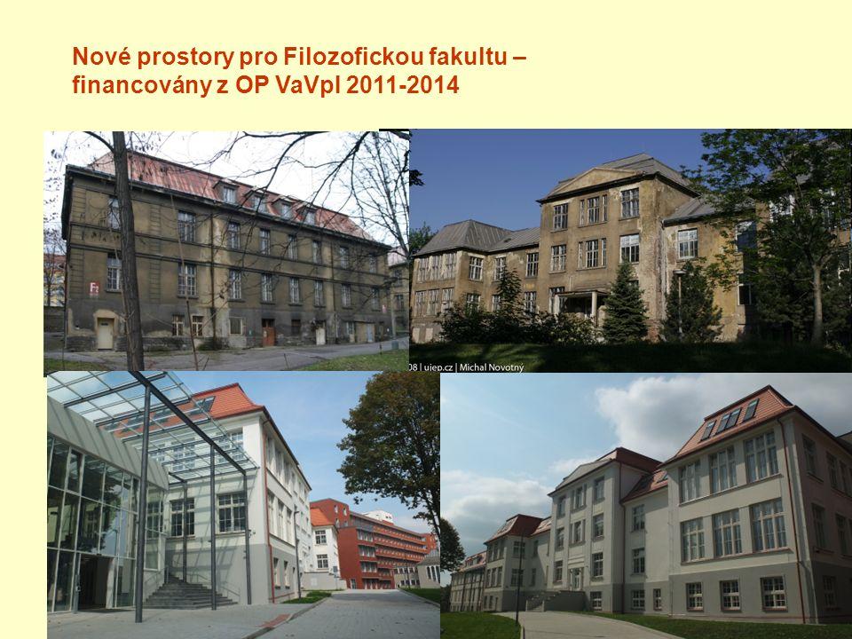 Nové prostory pro Filozofickou fakultu – financovány z OP VaVpI 2011-2014
