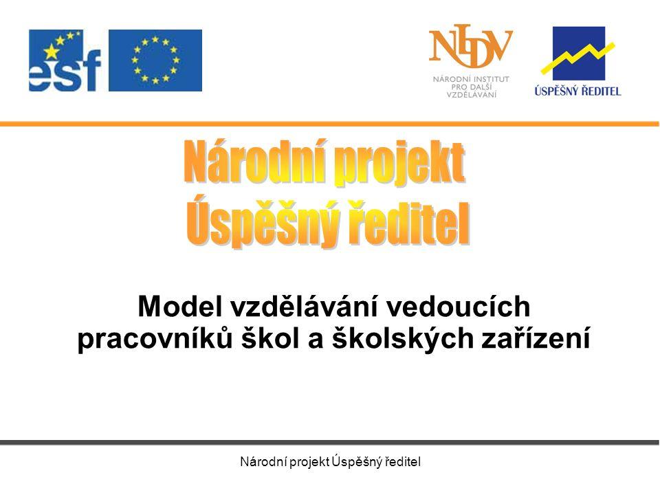 Národní projekt Úspěšný ředitel Model vzdělávání vedoucích pracovníků škol a školských zařízení