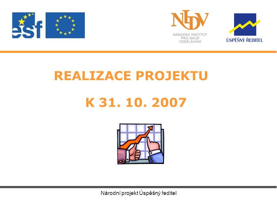 Národní projekt Úspěšný ředitel REALIZACE PROJEKTU K 31. 10. 2007