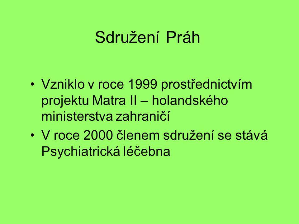 Sdružení Práh Vzniklo v roce 1999 prostřednictvím projektu Matra II – holandského ministerstva zahraničí V roce 2000 členem sdružení se stává Psychiatrická léčebna