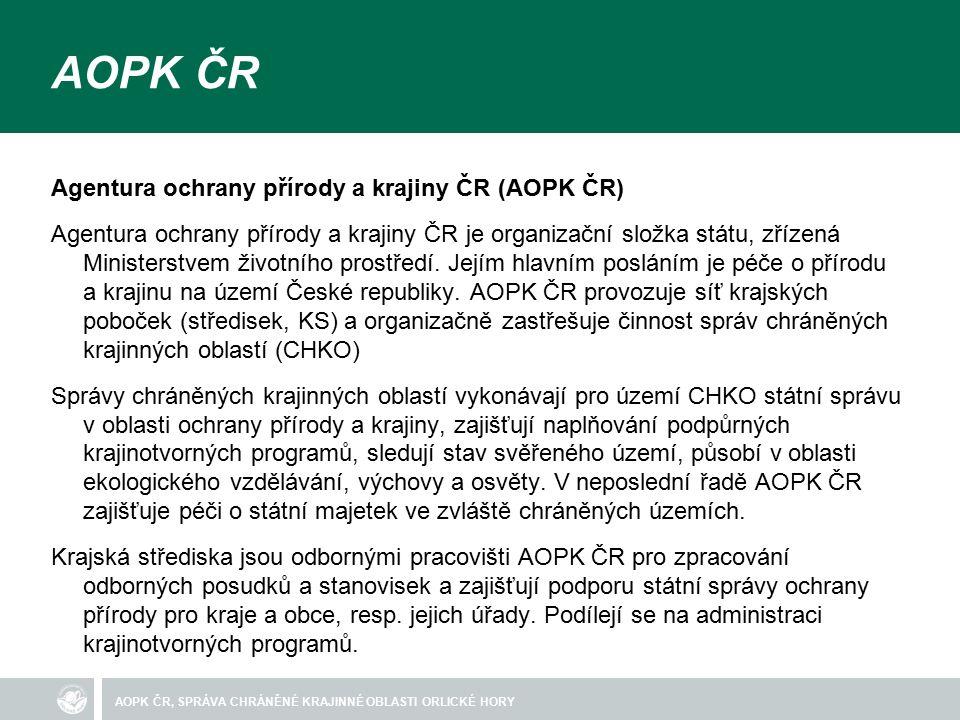 AOPK ČR, SPRÁVA CHRÁNĚNÉ KRAJINNÉ OBLASTI ORLICKÉ HORY