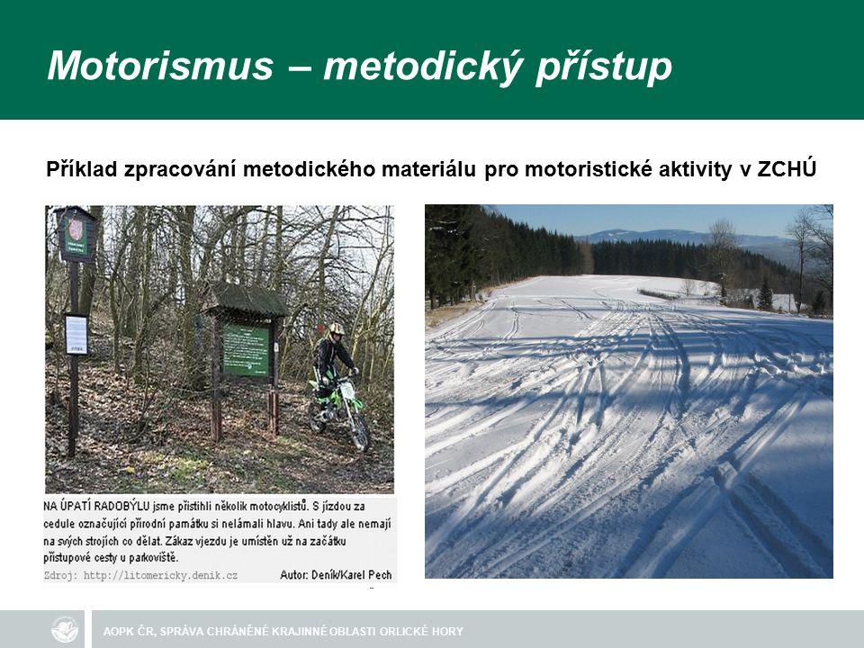 AOPK ČR, SPRÁVA CHRÁNĚNÉ KRAJINNÉ OBLASTI ORLICKÉ HORY Legislativní rámec motorismu § 26, Základní ochranné podmínky chráněných krajinných oblastí (1) Na celém území chráněných krajinných oblastí je zakázáno...