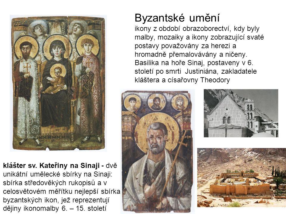 Byzantské umění ikony z období obrazoborectví, kdy byly malby, mozaiky a ikony zobrazující svaté postavy považovány za herezi a hromadně přemalovávány a ničeny.
