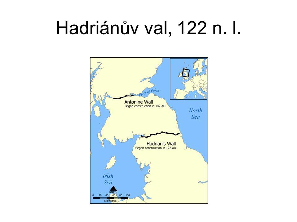 Hadriánův val, 122 n. l.