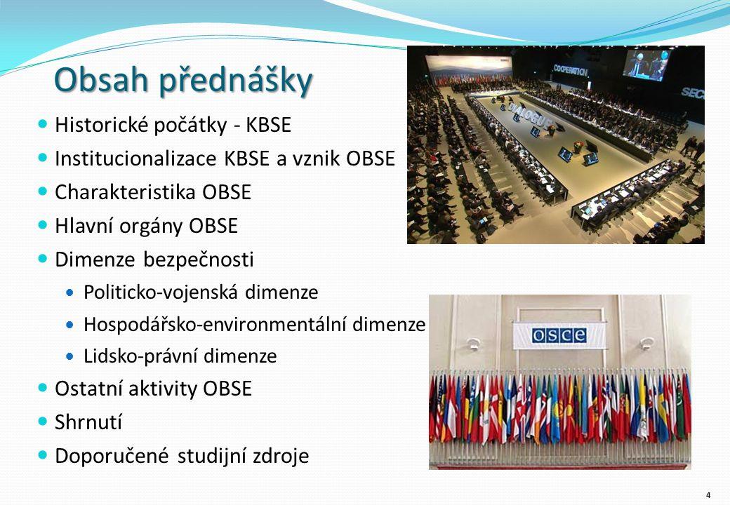 Ostatní aktivity OBSE Kontrola hranic Činnosti OBSE v této oblasti sahají od prevence konfliktů po poválečnou a post-konfliktní obnovu.