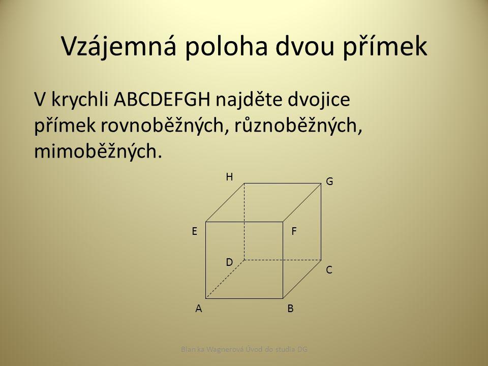 Vzájemná poloha přímky a roviny 1.všechny body společné (přímka leží v rovině) 2.