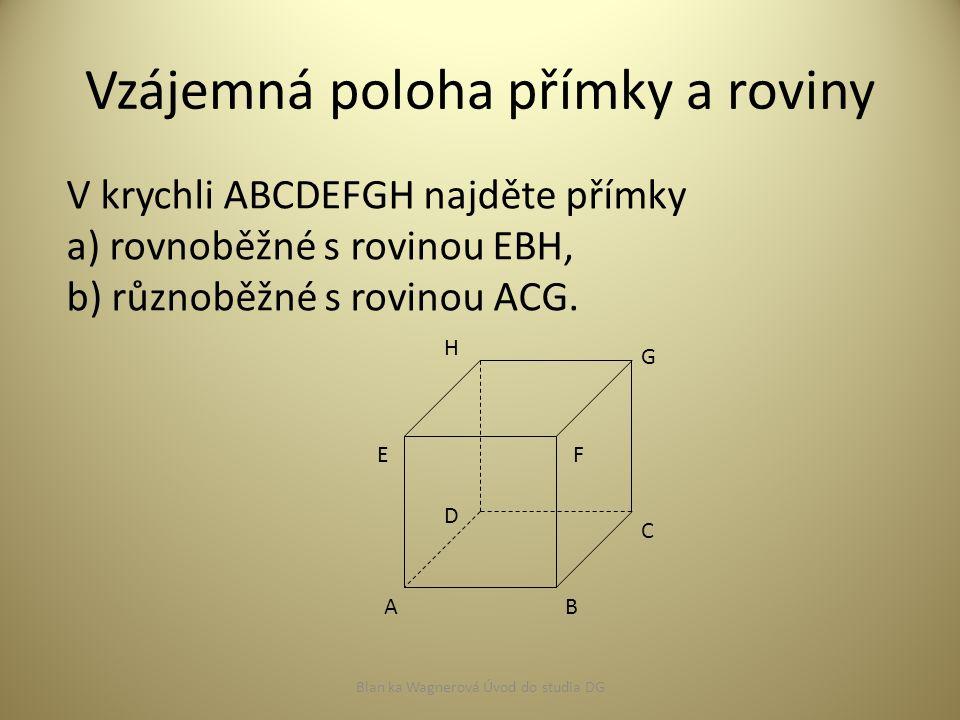 Vzájemná poloha dvou rovin 1.všechny body společné (roviny splývající) 2.