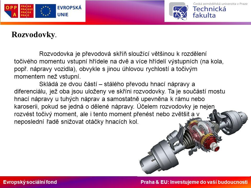 Evropský sociální fond Praha & EU: Investujeme do vaší budoucnosti Rozvodovky.