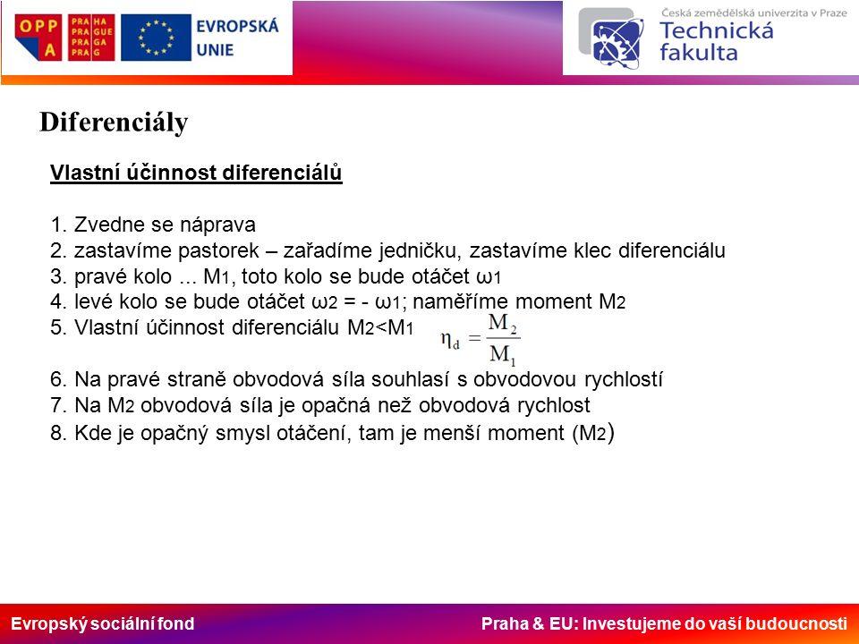 Evropský sociální fond Praha & EU: Investujeme do vaší budoucnosti Vlastní účinnost diferenciálů 1.