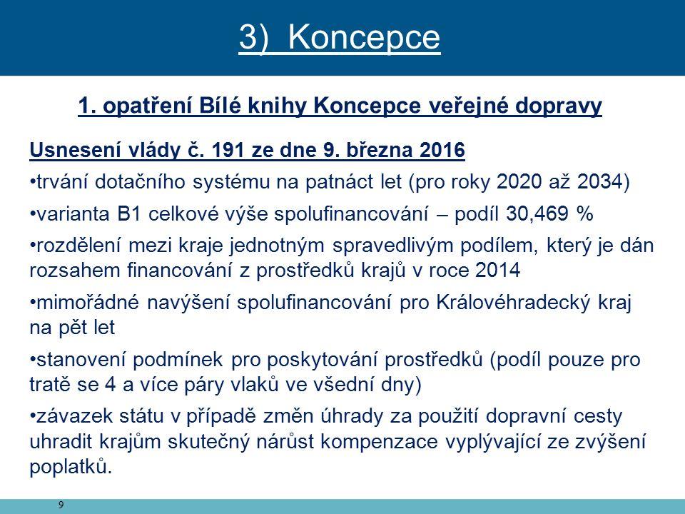 9 1. opatření Bílé knihy Koncepce veřejné dopravy Usnesení vlády č.